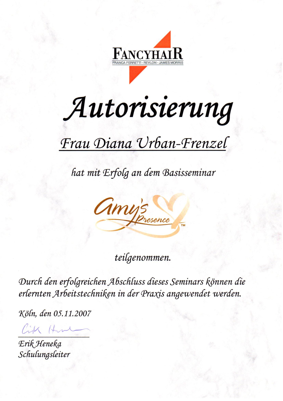 Autorisierung_amy´s presence_05.11.2007