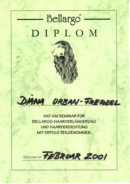 Diplom_Bellargo Haarverlängerung_ Februar 2001